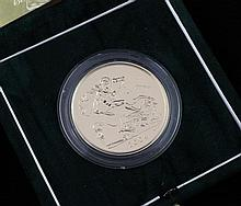 A cased Royal Mint 2004 Brilliant Uncirculated gold £5 coin,