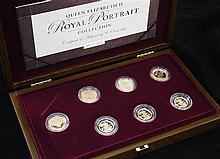 A cased Royal Mint 2003 Queen Elizabeth II Royal Portrait Collection seven coin set,