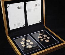 A Royal Mint 2008 UK Coinage Royal Shield of Arms gold proof collection fourteen coin set,