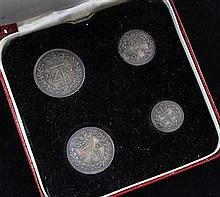 A Queen Victoria 1847 maundy set, EF or better.