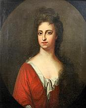 Circle of Sir Godfrey Kneller (1646-1723) Portrait of Mary Knight, daughter of J. Rokeby and wife of Alexander Knight of Reasby, Lincol