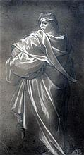 Old Master Study of a robed classical figure, 10.75 x 6in.