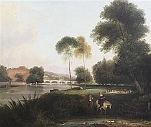 George Samuel (fl.1785-1823) Richmond bridge, 25 x 30in.