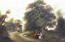 Henry L. Pratt (1805-1873) The Woodland Travellers, 16.5 x 24in.