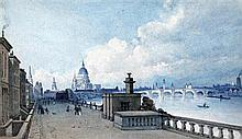 19th century English School View of St Paul's, 7 x 11.75in.