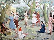 F. Winifred Darlington 'The Apple Pickers', 27 x 36in.