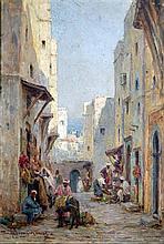 Harold Swanwick (1866-1929) 'A street in Algiers', 7.5 x 5.25in.