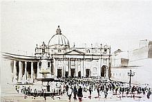 Irene Lesley Main (1959-) St Peter's Basilica, Rome, 11.5 x 16.75in.