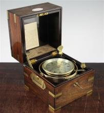 A Victorian two day marine chronometer, by Richard Hornby of Liverpool, No.1034, 7.25in.