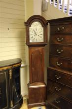 William Meredith of Chepstow. A George III mahogany eight day longcase clock, 6ft 7in.