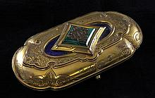A 19th century French ormolu necessaire set, 6.75in.