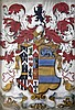 A George III Welsh armorial painting, overall 13 x 10in.