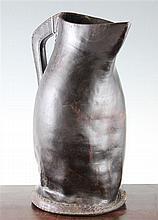 A leather blackjack jug, 16in.