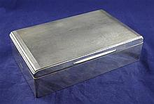A 1960's silver cigarette box, 9in.