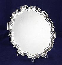 A George V Irish silver salver, 19 oz.