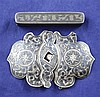 A 19th century Russian 84 zolotnik silver and niello toothpick box & belt buckle.