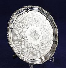 A George III silver waiter, 9 oz.