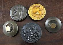 Kauko Rasanen, (Finnish, 20thC). A circular two part medallion, 4in.