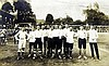 An English International football team postcard, 5.5in.