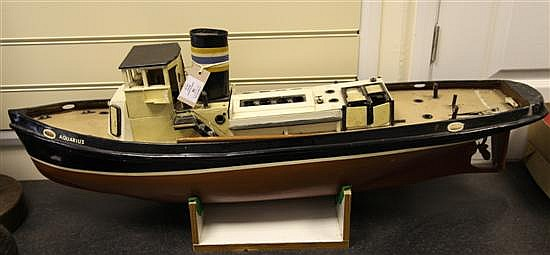 A scratch built model of a tug 'Aquarius'