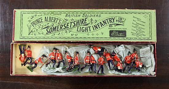 A boxed set of Britains lead soldiers,