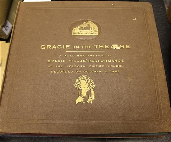 GRACIE FIELDS: Five albums of records and acetates, a.f.