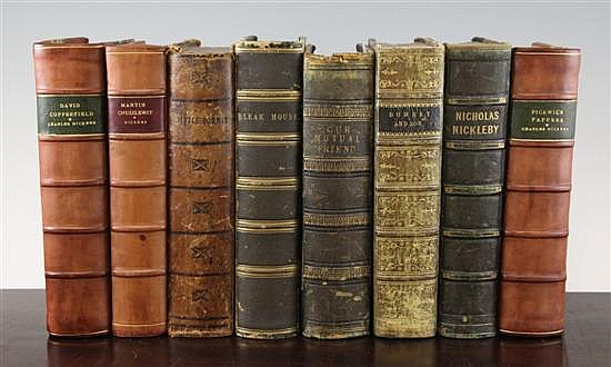 CHARLES DICKENS, a collection of eight first editions in book form,
