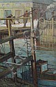 Mary Remington (1910-) 'Low Tide, Newhaven', 18 x 12in., Mary Remington, Click for value