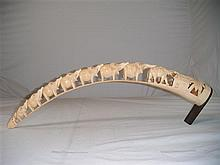 A South East Asian ivory tusk carving, 24in.