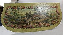 A 19th century French oil on canvas panel, 38 x 80in., unframed