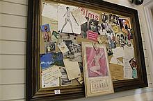 Michael Winner: A framed notice board, 47in.