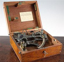 A late 19th / early 20th century Greenough & Co sextant, 9.5in.