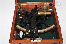 An H.Hughes & Son cased sextant, 8.5in.
