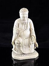 A Chinese ivory seated figure of Buddha Ru Lai, 19th century, 14cm., two fingers lacking