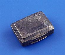 A George IV silver vinaigrette, 1.25in.