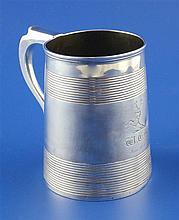 A George III silver mug, 11 oz.