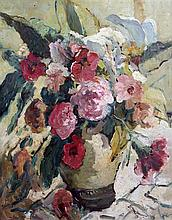 § Dorothea Sharp (1874-1955) Still life of flowers in a vase, 19.5 x 15.5in.,