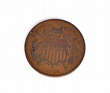 1868 Two-Cent Piece Coin