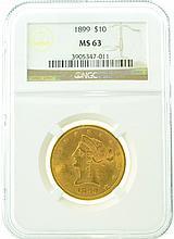 *1899 $10 MS 63 NGC Liberty Gold Coin (DF)