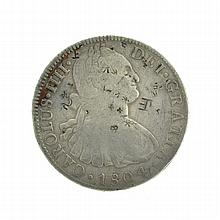 1804 Eight Reales American First Silver Dollar Coin