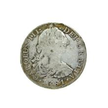 1781 Extremely Rare Eight Reales American First Silver Dollar Coin