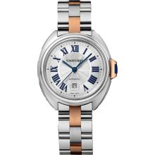 *Cartier Women's Cle De Cartier Stainless Steel Case, Stainless Steel Bracelet, Silver Dial, Automatic Movement, Scratch Resistant Sapphire, Water Resistant up to 3 ATM - 30 Meters - 100 Feet (DM W2CL0004)