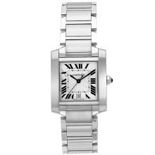 *Cartier Men's Tank  Stainless Steel Case, Stainless Steel Bracelet, White Dial, Swiss Automatic Movement, Scratch-Resistant Sapphire, Water Resistant up to 3 ATM - 30 Meters - 99 Feet (DM W51002Q3)