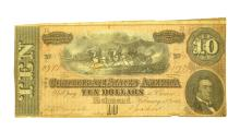 1864 $10 Confederate Note