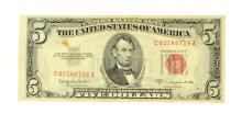 1953 $5 Red Seal United States Note