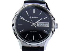 *Bulova N8 Auto Day Date Mens Swiss Made Stainless Steel Vintage Watch