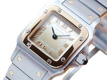 *Rare Collectible Cartier Santos 18K Gold & Stainless Steel Automatic Women's Watch