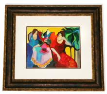 Tarkay- Framed Lithograph-Signature ''Tranquilty''