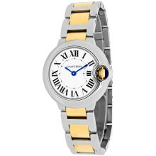 *Cartier Women's Ballon Bleu Stainless Steel Case, 18k-Gold-and-stainless-Steel Bracelet, Silver Dial, Swiss Quartz Movement, Scratch-Resistant Sapphire, Water Resistant up to 3 ATM - 30 Meters - 99 Feet (DM W69007Z3)