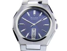 *Rare Men's Bulova Day Date Blue Dial Automatic Vintage Swiss 1970s Watch